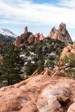 Tuin van de Sneeuw van de Godenwinter Stock Foto's