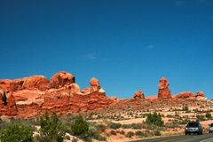 Tuin van Eden Rock Formations, Bogen Nationaal Park, Moab Utah Royalty-vrije Stock Afbeeldingen