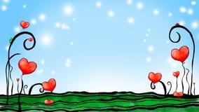 Tuin van harten royalty-vrije illustratie