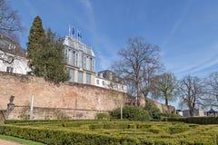 Tuin van het kasteel in Saarbruecken Royalty-vrije Stock Foto