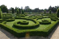 Tuin van kasteel in Bucovice Royalty-vrije Stock Afbeeldingen
