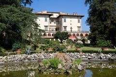 Tuin van Villa Medici Poggio een Caiano stock afbeeldingen