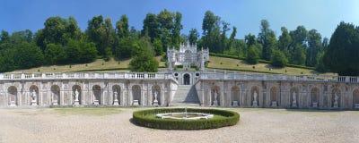 Tuin van Villadella Regina (de villa van de Koningin) in Turijn, Italië royalty-vrije stock fotografie