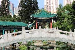 Tuin van Wong Tai Sin Temple Royalty-vrije Stock Afbeeldingen