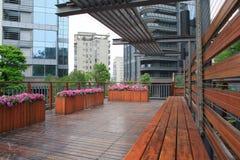Tuin woon in China stock afbeeldingen