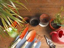 Tuinbouw van de menings de favoriete hobby Royalty-vrije Stock Foto's