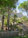 Tuinen Castello Papa Luna Peñiscola, Spanje Royalty-vrije Stock Afbeelding