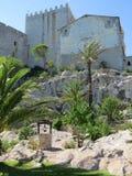 Tuinen Castello Papa Luna Peñiscola, Spanje Stock Foto