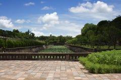 Tuinen in Citadel, Tint, Centraal Vietnam Royalty-vrije Stock Foto's