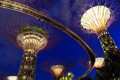 Tuinen door de Baai Singapore royalty-vrije stock afbeelding