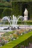 Tuinen en fonteinen bij Paleis Versailles Stock Foto's