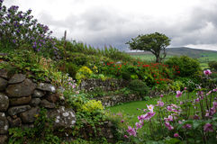 Tuinen in ffald-y-Brenin in de zomer royalty-vrije stock foto