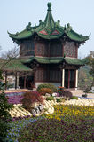 Tuinen in Park van het het Westenmeer van Yangzhou ` s het Slanke Royalty-vrije Stock Afbeelding