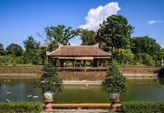 Tuinen rond de Keizerstad van Tint, Thua-thien-Tint, Tint, Vietnam stock foto's