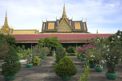 Tuinen in Royal Palace in Phnom Penh Stock Afbeelding