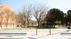 Tuinen in Sant Adria de Besos Stock Afbeeldingen