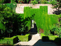 Tuinen van Alhambra Paleis Royalty-vrije Stock Fotografie