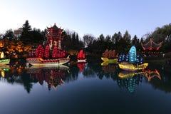 Tuinen van Botanische Tuinen licht-Montreal Stock Foto's
