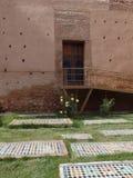 Tuinen van de Saadian-Graven in Marrakech, Marokko stock afbeelding