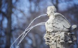 Tuinen van de stad van Aranjuez, in Spanje wordt gevestigd dat Steenpaleis Royalty-vrije Stock Afbeelding