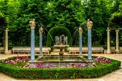 Tuinen van Royal Palace van Aranjuez stock fotografie
