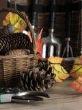 Tuinhulpmiddelen voor de herfst Stock Afbeelding