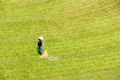 Tuinman op gras Royalty-vrije Stock Afbeelding