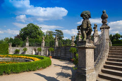 Tuinpark in Dobris Royalty-vrije Stock Afbeelding