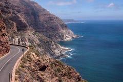 Tuinroute, weg dichtbij Chapman piek, Zuid-Afrika royalty-vrije stock afbeeldingen