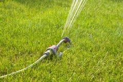Tuinsproeier op zonnige dag stock foto