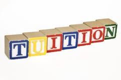 Tuition blocks Stock Photo