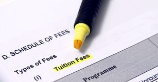 Tuition fees Stock Images
