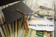 Tuition headlines royalty free stock photos