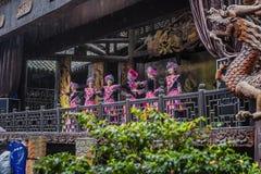 Tujia girl dancing welcoming stock image