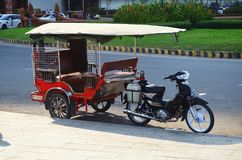 Tuk tuk Καμπότζη, Πνομ Πενχ Στοκ Εικόνες