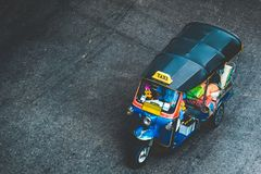 Tuk tuk in Bangkok royalty free stock photo