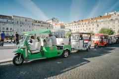 Tuk di Tuk - Lisbona, Portogallo Fotografia Stock Libera da Diritti