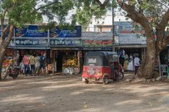 TUK TUK no mercado em Sri Lanka Imagem de Stock