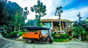Tuk tuk op het Eiland van Thailand Stock Foto