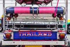 Tuk-Tuk thailändsk traditionell taxi Arkivfoto