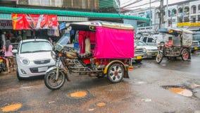 Tuk Tuk在万象,老挝 库存照片