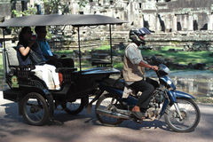 Tuk Tuk在亚洲柬埔寨暹粒 库存图片