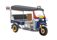 Tuk Tuk汽车在曼谷,泰国 库存图片