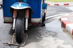 Tuk-Tuk,泰国传统出租汽车 免版税图库摄影
