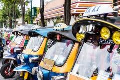 Tuk-Tuk,泰国传统出租汽车 免版税库存照片