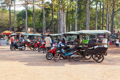 Tuk-tuk σε Angkor Wat, Καμπότζη Στοκ Εικόνα
