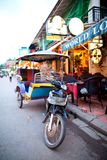 Tuk Tuk в Siem ужинает, Камбоджа Стоковая Фотография