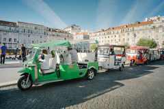 Tuk Tuk - Лиссабон, Португалия Стоковая Фотография RF