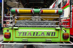 Tuk tuk& x27; achtermening, BangkokThailand Stock Foto's