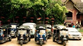 Tuk Tuk ad area di parcheggio Fotografie Stock
